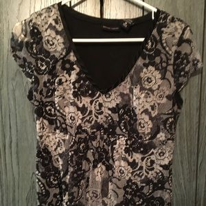 New York and Company Black and White lace looking